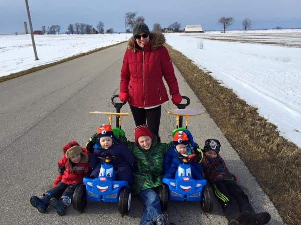 proud mom of five boys