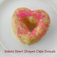 Baked Heart Shaped Cake Donuts