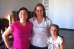 My Manifestation Workshop. Me, Carol from San Antonio and her 8 year old daughter Jen. Black Swan Yoga, Austin Texas.