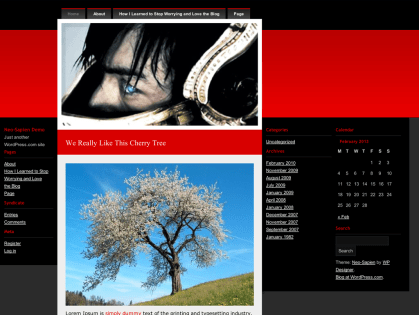 Neo-Sapien WordPress Theme
