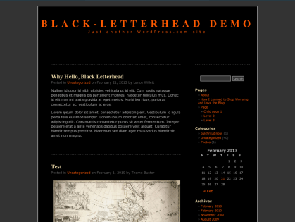 Black-LetterHead WordPress Theme