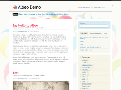 Albeo WordPress Theme