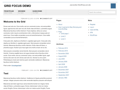 Grid Focus WordPress Theme