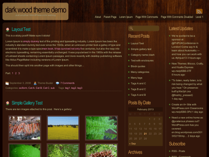 Dark Wood WordPress Theme