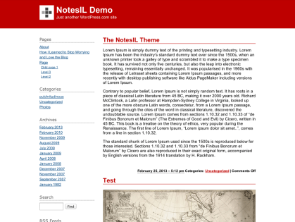 NotesIL WordPress Theme