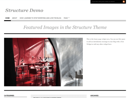 Structure WordPress Theme