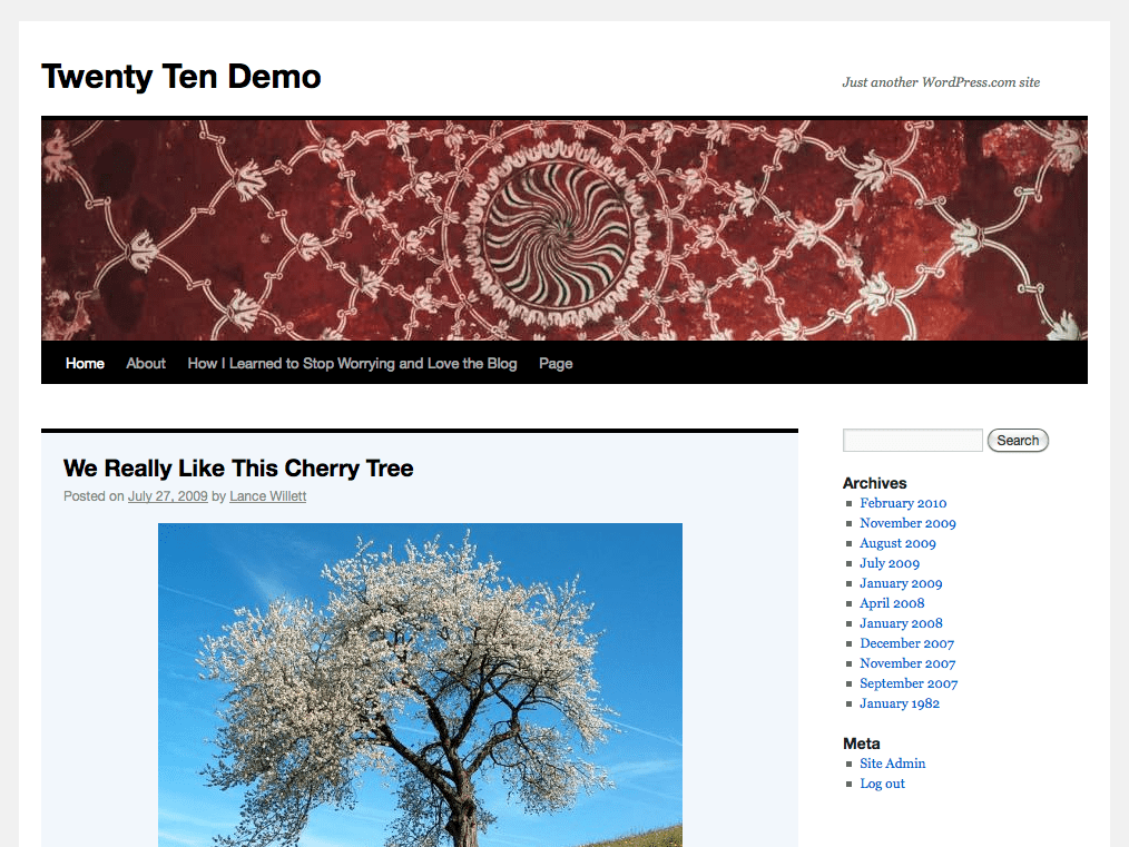 Twenty Ten WordPress Theme