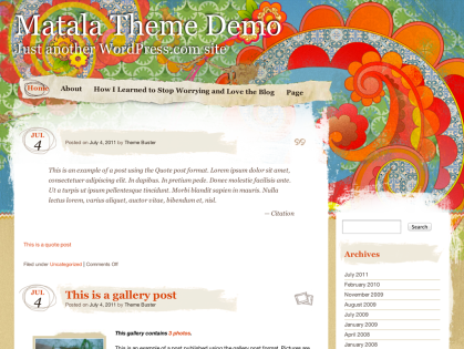 Matala WordPress Theme