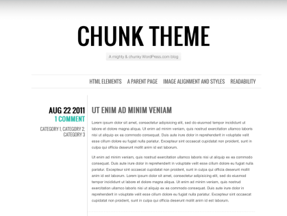 Chunk WordPress Theme
