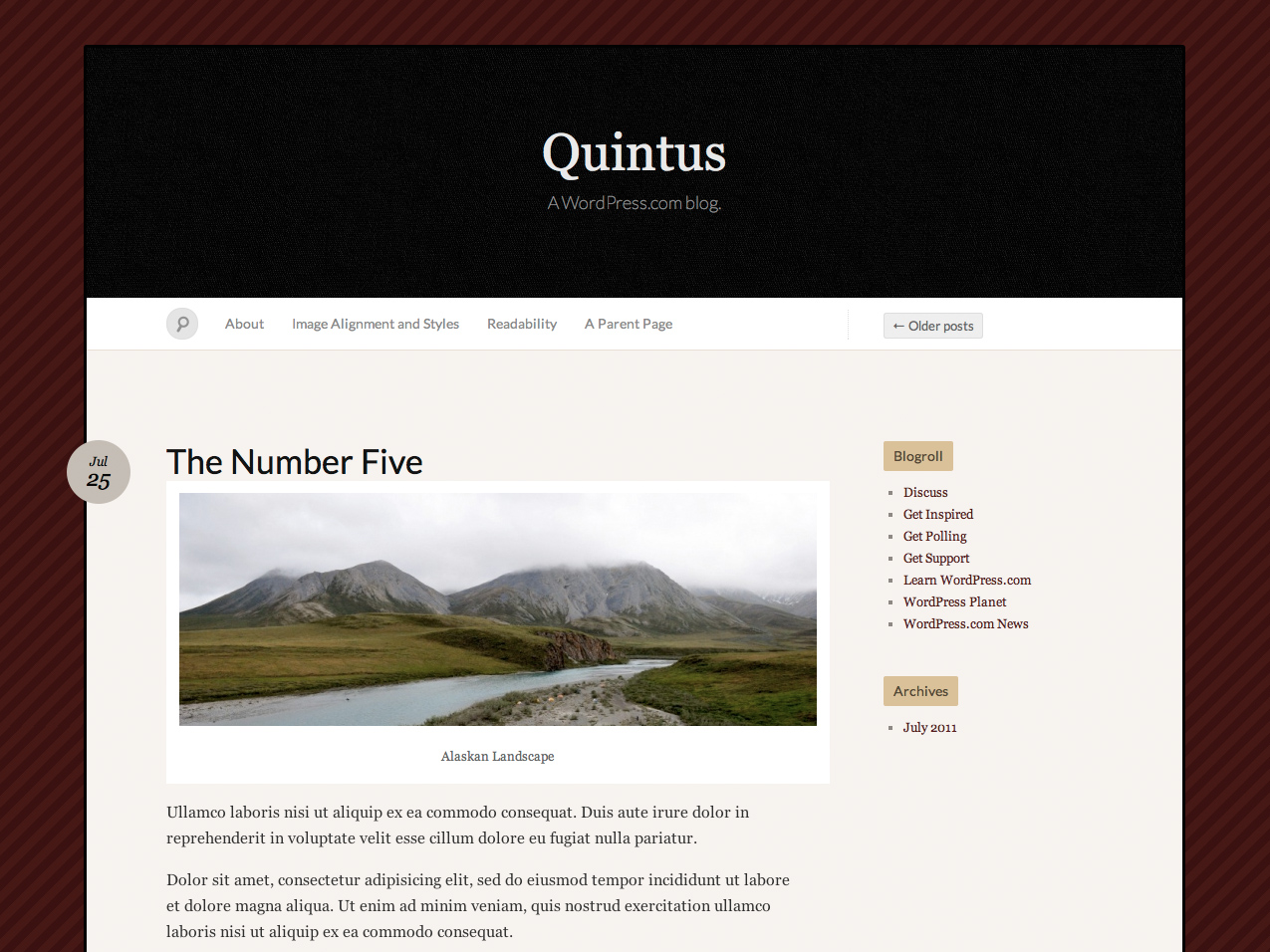 Quintus WordPress Theme