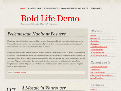 Bold Life WordPress Theme