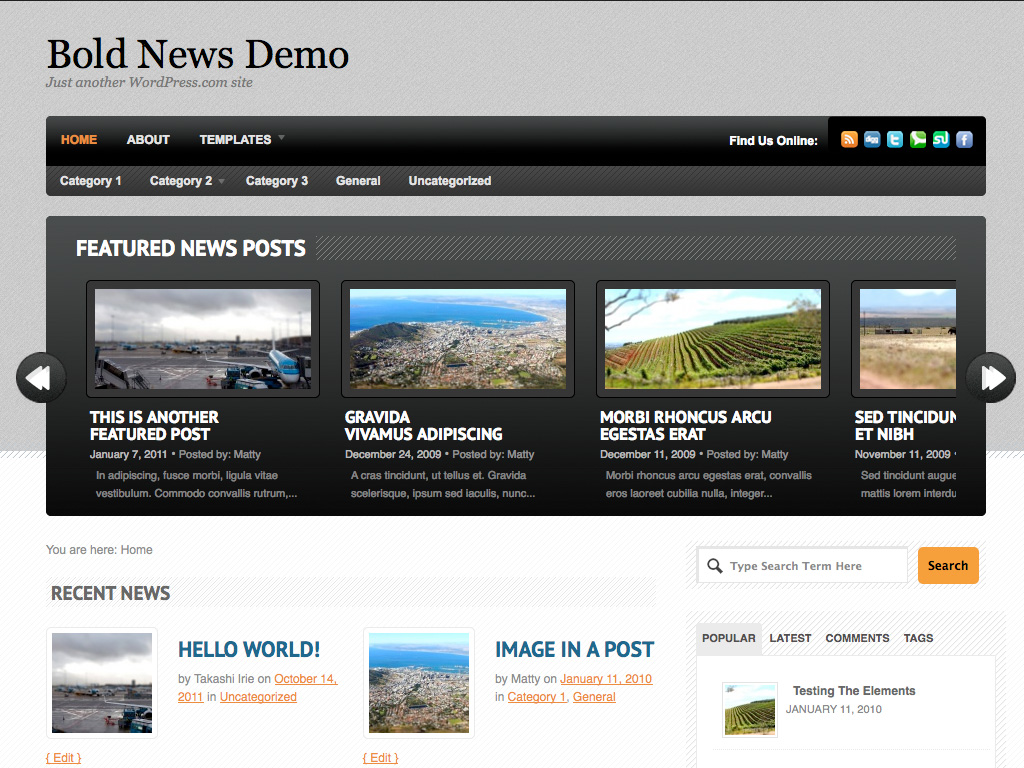 Bold News WordPress Theme