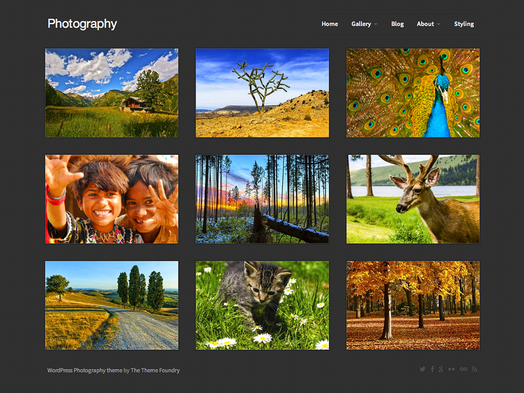 Photography WordPress Theme