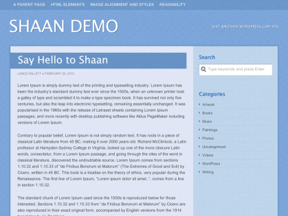 Shaan WordPress Theme