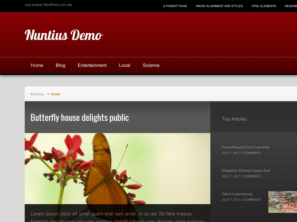 Nuntius WordPress Theme
