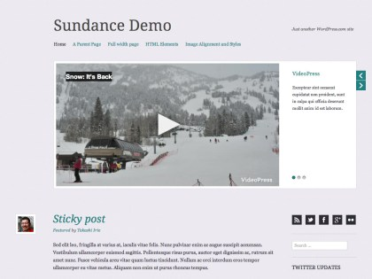 Sundance WordPress Theme