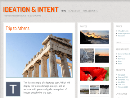 Ideation and Intent WordPress Theme