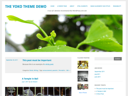 Yoko WordPress Theme