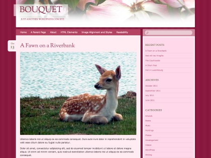 Bouquet WordPress Theme