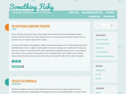 Something Fishy WordPress Theme