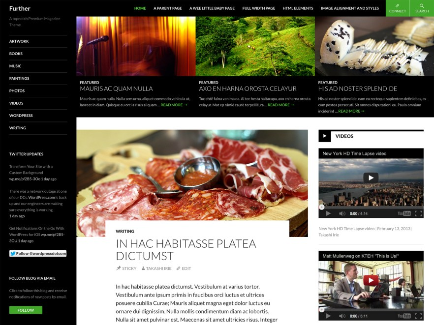 Further WordPress Theme