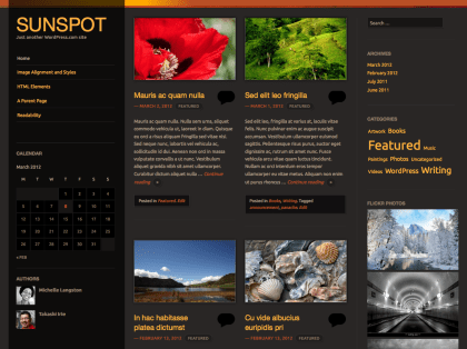 Sunspot WordPress Theme