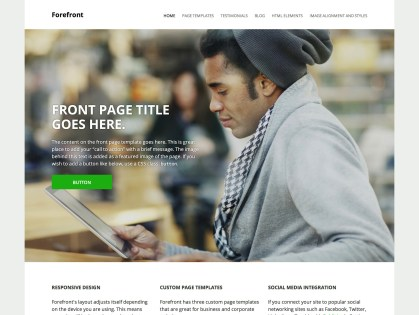 Forefront WordPress Theme