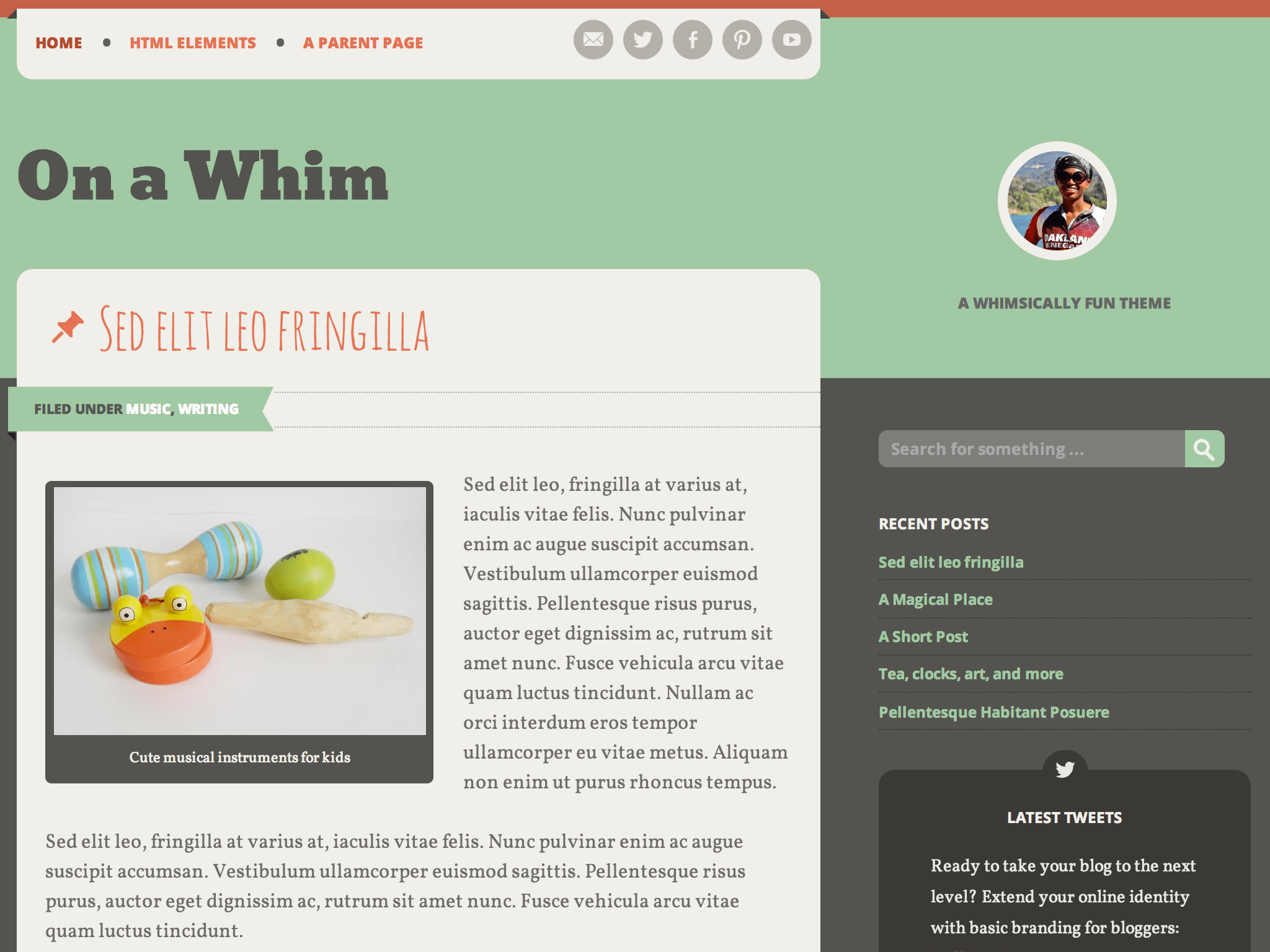 On a Whim WordPress Theme