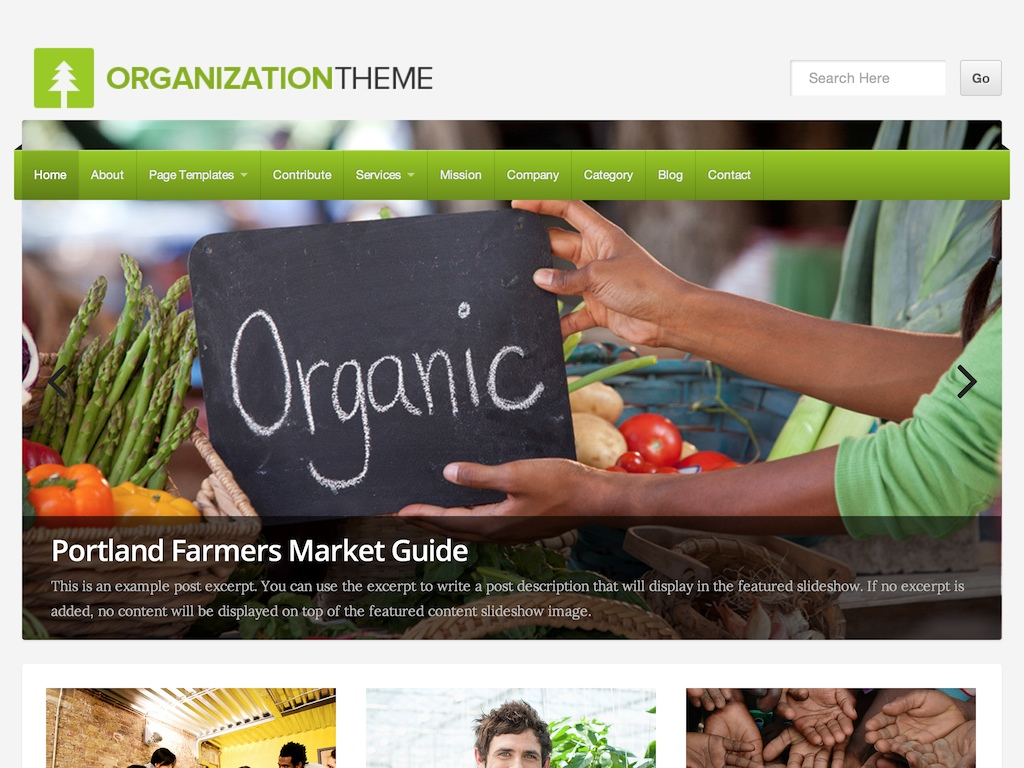 Organization WordPress Theme