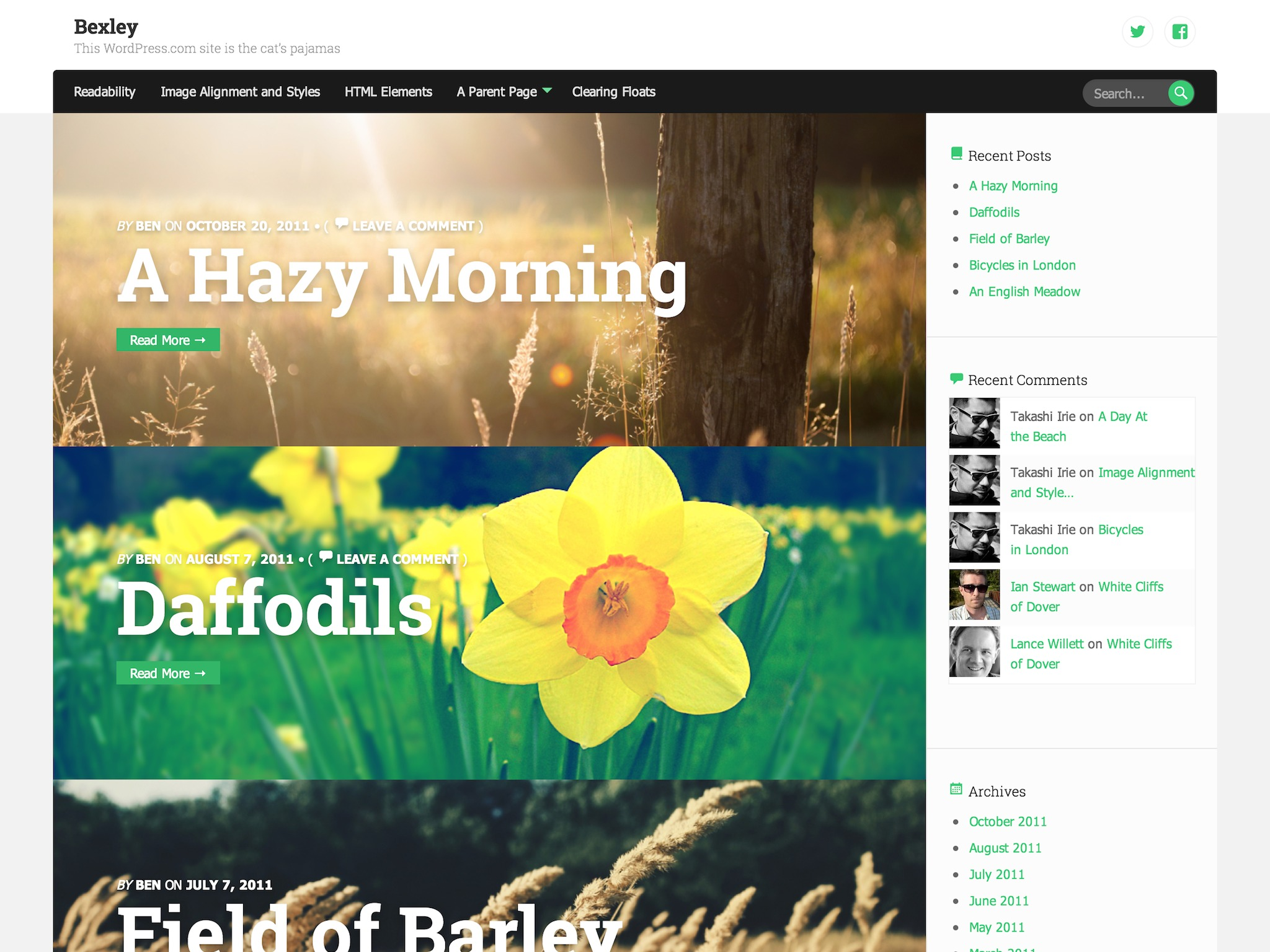 Bexley WordPress Theme