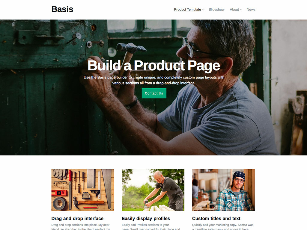 Basis WordPress Theme