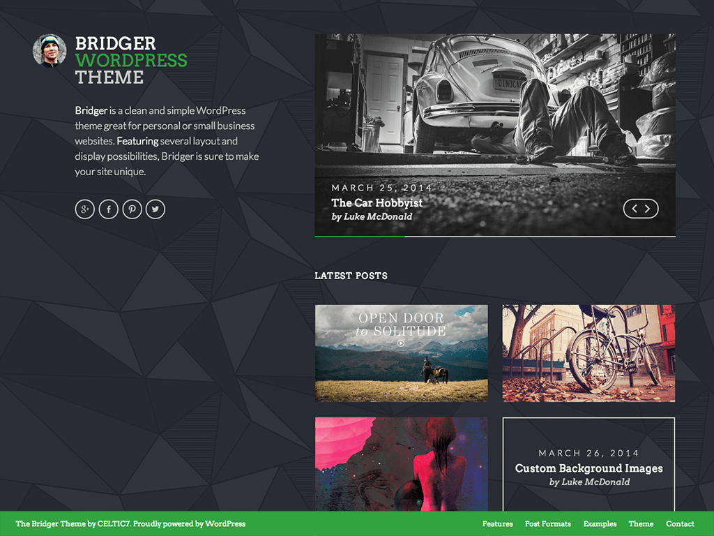 Bridger WordPress Theme