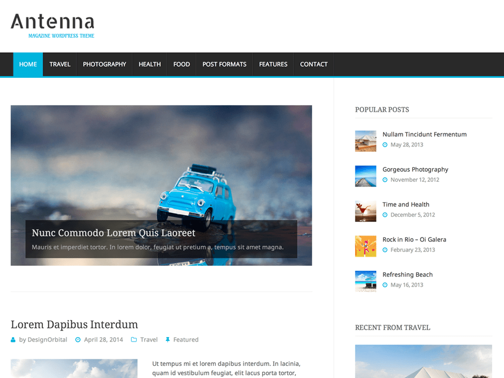 Antenna WordPress Theme