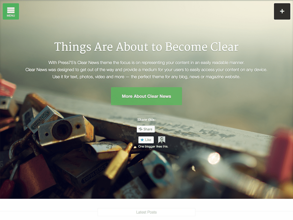 Clear News WordPress Theme