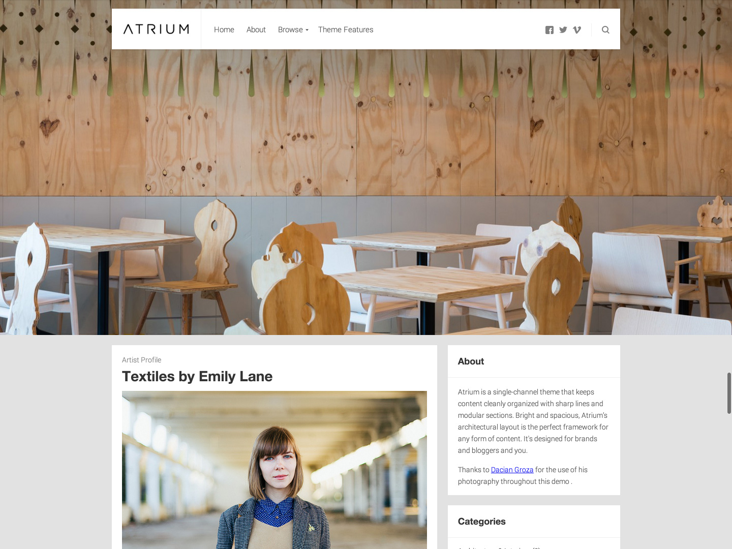 Atrium WordPress Theme