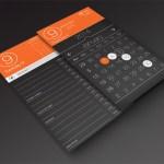 Free PSD Calendar App UI Design