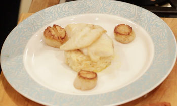 Chef Lee Wright's Sea Bass With Chorizo Risotto, Vanilla Beurre Blanc