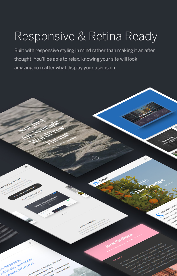 responsive retina ready wordpress theme