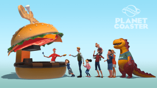 Planet Coaster model render burger queue
