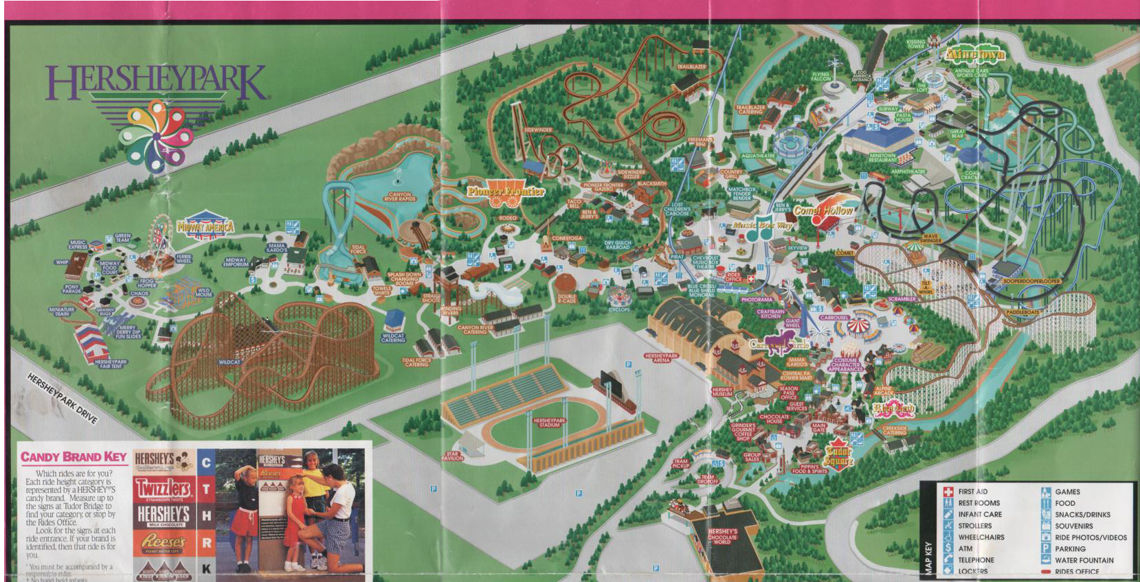 Theme Park Review     TPR s Ever Evolving Park Index   Page 66 HP Map2 jpg  Hersheypark map 1999