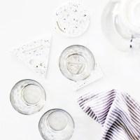 DIY Geometric Splatter Coasters
