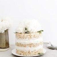 Floral Rice Krispie Cake