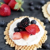 Creamy Fruit Pizzelles