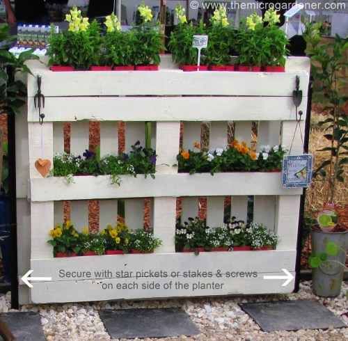 Medium Of Diy Pallet Herb Garden