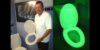 Man Invents Glow-in-the-Dark Toilet Seat So You Don't Need to Turn on Lights