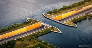The Dutch built a water bridge that breaks the laws of physics