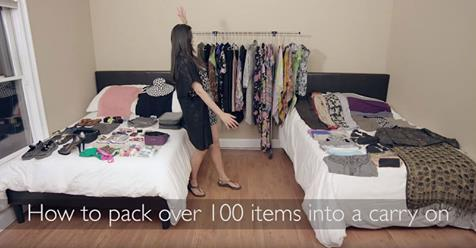 Woman Packs 100+ Items Into Carry On