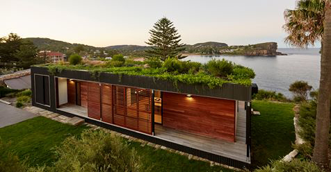 This Stunning Beachfront Home Has Living Garden on the Roof, is Eco-Friendly and it Only Took Six Week to Build!