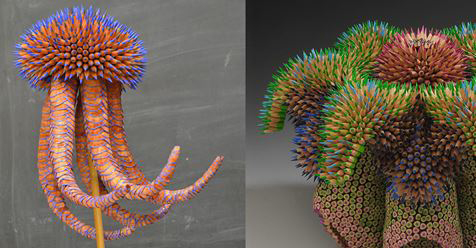Jennifer Maestre Comes Up With Pencil Structures That Look Like They Sre From A Different World!