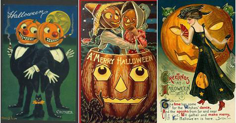 24 Bizarre Vintage Postcards Greeting Halloween from the 1900s and 1910s